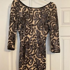 Black and Tan sequin dress